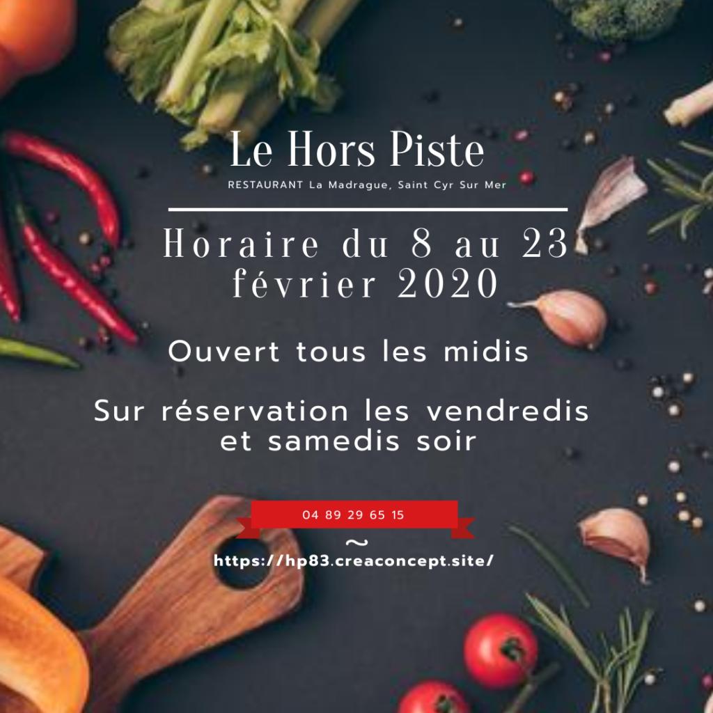 Le Hors Piste, Restaurant à La Madrague, Saint Cyr Sur Mer